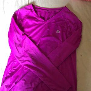 Purple workout long sleeve top